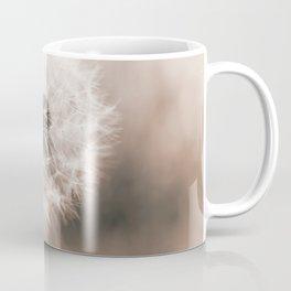 Spring Dandelion in Sepia Coffee Mug