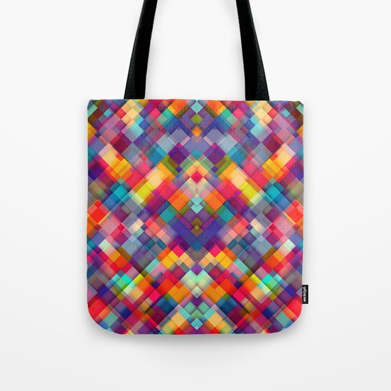 Squares Everywhere Tote Bag