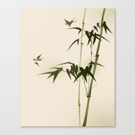 Oriental style bamboo branches 001 Canvas Print