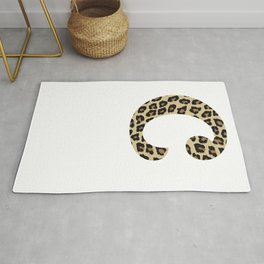 Letter C Leopard Cheetah Monogram Initial Rug