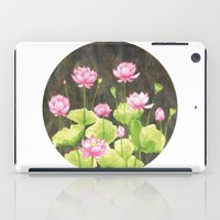 lotus flower iPad Cases featuring Lotus by Carla Adol