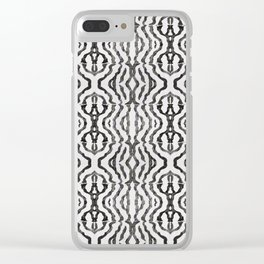 Black Coral Weaving Clear iPhone Case