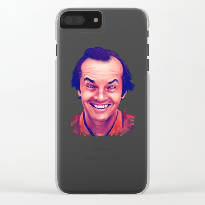Young Jack Nicholson and the evil smile - digital painting Clear iPhone Case