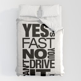 Yes it's fast No you can't drive it v6 HQvector Comforters