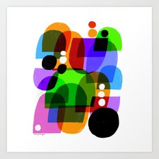 COLOR & SHAPES Art Print
