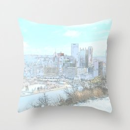 Downtown Pittsburgh 1 Throw Pillow
