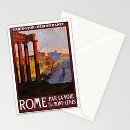 Vintage Rome Italy Travel Stationery Cards