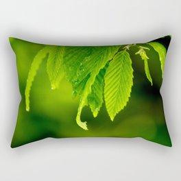 Wet leaves Rectangular Pillow