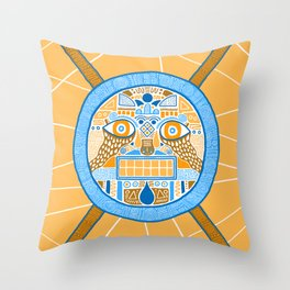 Facing the disk Throw Pillow
