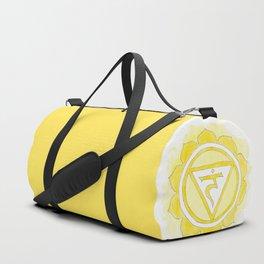 Manipura chakra watercolor painting Duffle Bag