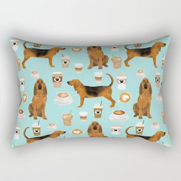 Bloodhound coffee dog pattern dog breed custom gifts for dog lovers bloodhounds Rectangular Pillow