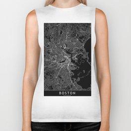 Boston Black Map Biker Tank