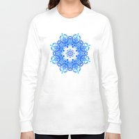 snowflake Long Sleeve T-shirts featuring Snowflake by KAndYSTaR