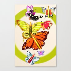 Bullet with Butterfly Wings Canvas Print