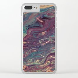 Twisted Storm Clear iPhone Case