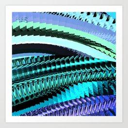 Geometrics Eight Version Two Art Print