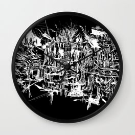 Foggy Beijing (BLACK) Wall Clock
