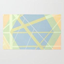 Crossroads ll - color hexagon Rug