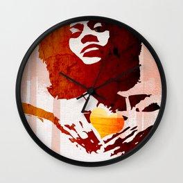 Pangs of heart Wall Clock