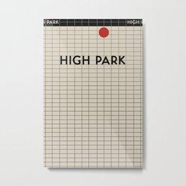 HIGH PARK | Subway Station Metal Print