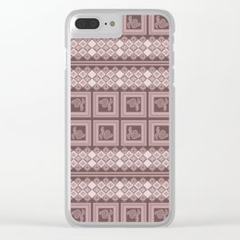 Ornament cocoa color. Clear iPhone Case
