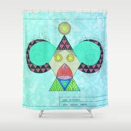 Cara Hexagonal Shower Curtain