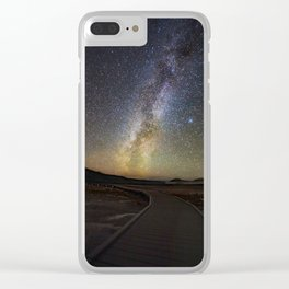 Grand Prismatic Spring Under The Milky Way Clear iPhone Case