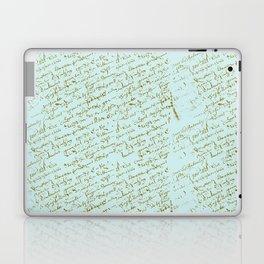 French Script on Paris Blue Laptop & iPad Skin
