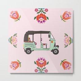 Auto Art (pink) Metal Print
