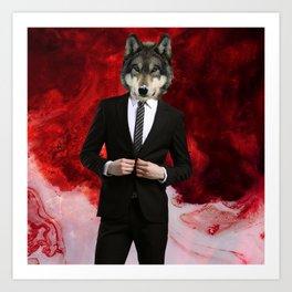 WOLF of WALLSTREET Art Print