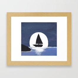 Moonlit Sailing Framed Art Print