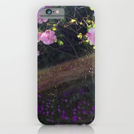 Pink roses and sunshine iPhone Case