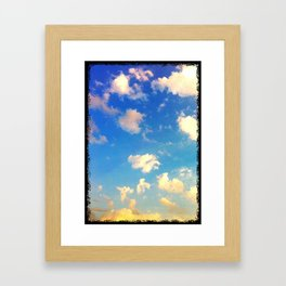 Georgia sunset Framed Art Print