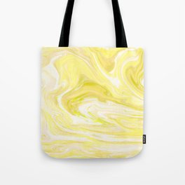 Yellow Glowing Marble Tote Bag