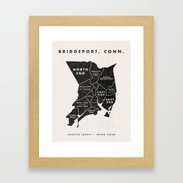 Bridgeport Map Framed Art Print