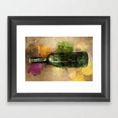 Message in a bottle Framed Art Print