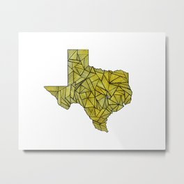 Yellow Texas Metal Print