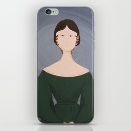 Emily Bronte - Gothic Literature Inspired Original Acrylic on Canvas Artwork iPhone Skin