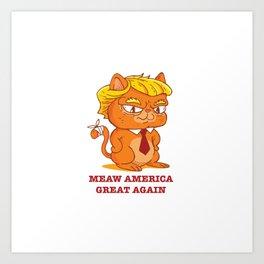 Funny Trump Cat Art Print