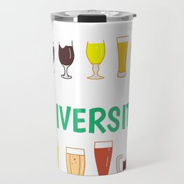 Funny Drinking Beer Gift Enjoy Diversity Gift for Beer Lover design Travel Mug