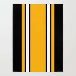Pittsburgh Black And Yellow Abstract Poster