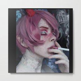 smoking boy Metal Print