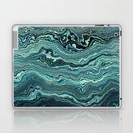 Emerald topography map Laptop & iPad Skin