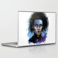 edward scissorhands Laptop & iPad Skins featuring Edward Scissorhands by Jhaiku
