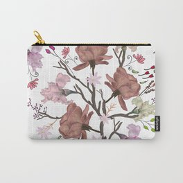 Floral Flourish pattern with roses and iris flower Carry-All Pouch