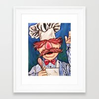 chef Framed Art Prints featuring Swedish Chef by MSG Imaging