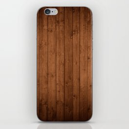 Barn Wall Made of Old Wooden Planks - Brown iPhone Skin