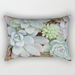 SUCCULENTS ARRANGEMENT I Rectangular Pillow