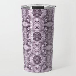 Gray Royal Floral Travel Mug