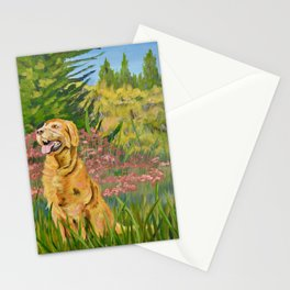 """Maddie"" Golden Retriever Dog in Mountain Meadow Stationery Cards"